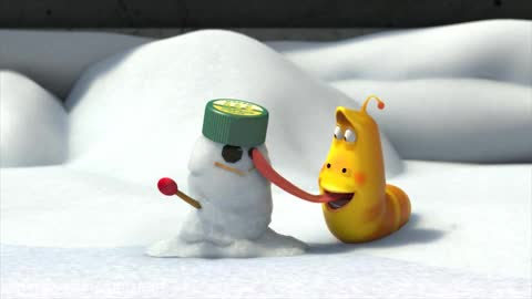لاروا قسمت 13 Snowball fight