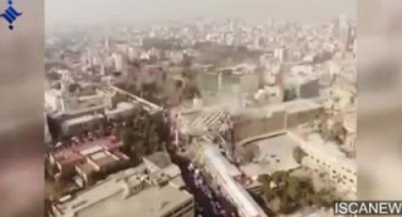 تصویر هوایی از ویرانه ای به اسم پلاسکو