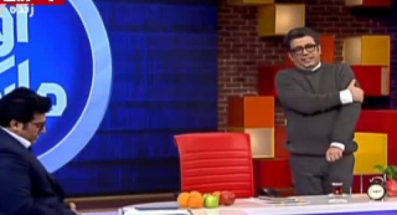 ???? فیلم / لحظه بیهوش شدن رضا رشیدپور در برنامه زنده «حالا خورشید»