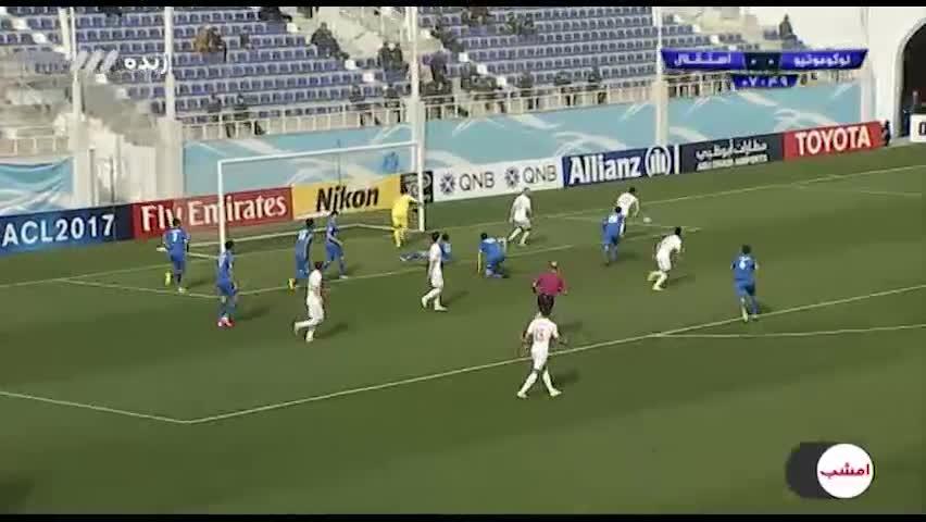 خلاصه بازی لوکوموتیو تاشکند 1-1 استقلال