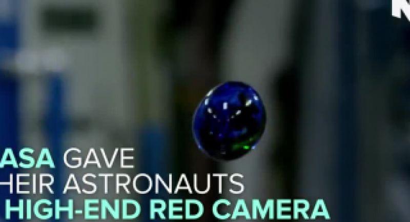 آزمایش قطره آب در فضا!!