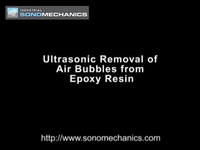 حذف حباب های رزین توسط دستگاه آلترا سونیک