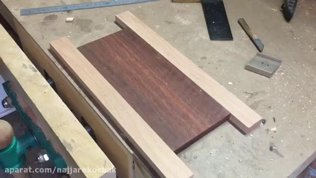 نجاری - ساخت تخته آشپزخانه با اتصال دم چلچله