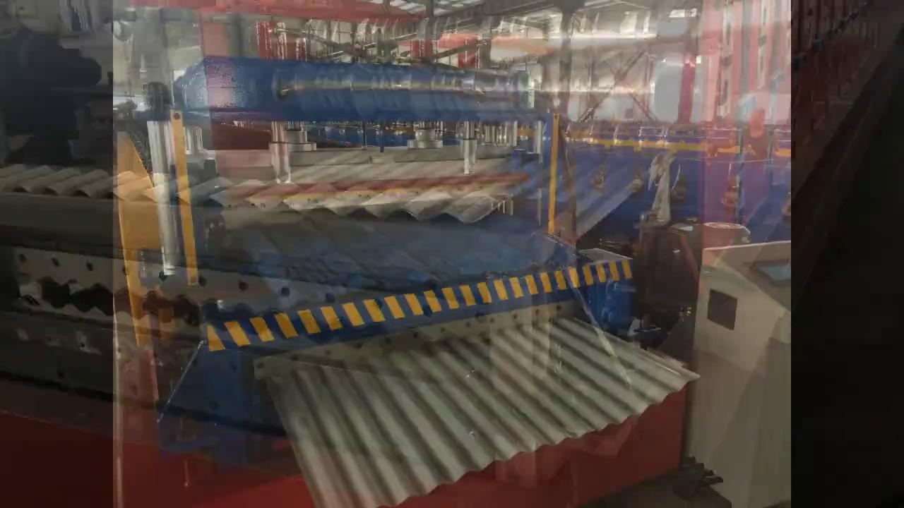 تخلیه دستگاه رول فرمینگ دو طبقه سینوسی و طرح سفال