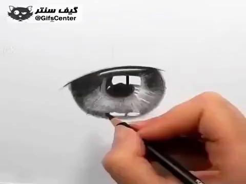 نقاشی ســـــه بــعدی چــشم ???? واقعا کارش عالیه