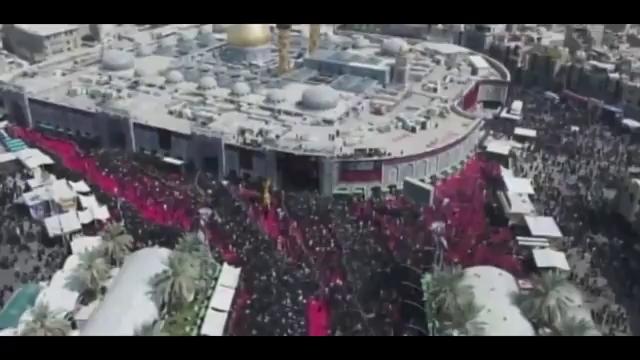 تصاویر هوایی از بین الحرمین در ظهر عاشورا