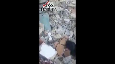وضعیت ساختمان های مسکن مهر تخریب شده در زلزله سرپل ذهاب