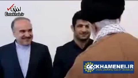 رهبر انقلاب در دیدار با علیرضا کریمی: واقعا احساس عزت کردم