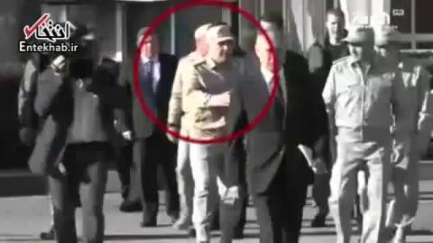 حرکت توهینآمیز نظامی روس برابر بشار اسد در حضور پوتین