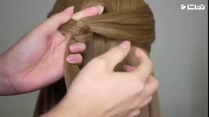آموزش ساده مدل مو دخترانه