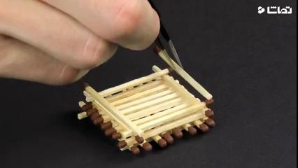 ساخت خانه چوبی با کبریت - 2
