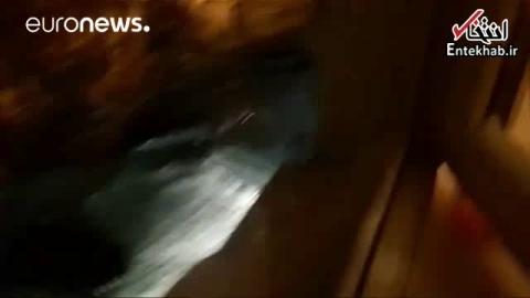 فیلم/ دزدی مرد مست از مغازه توسط تانک!