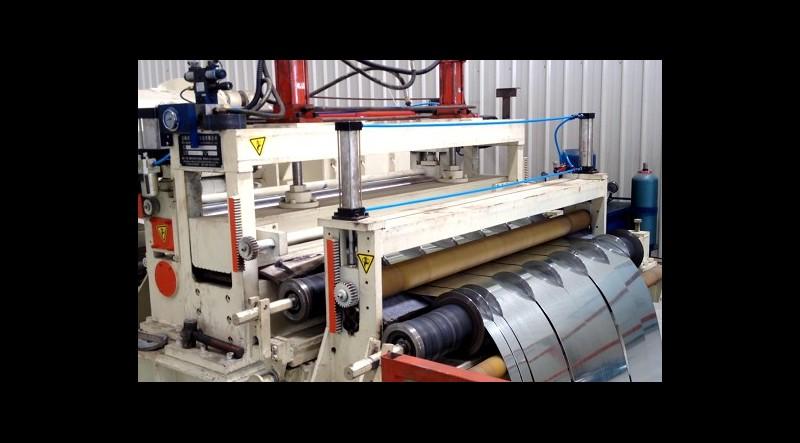سازنده خط کامل دستگاه نواربر ورق فلزی / برش رول به رول فلزات