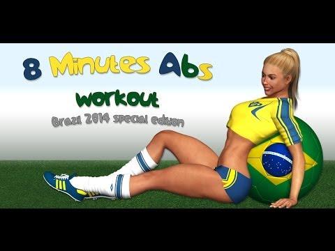 8 دقیقه ورزش شکم-Abs-دانلود ویدیو تناسب اندام-برزیل
