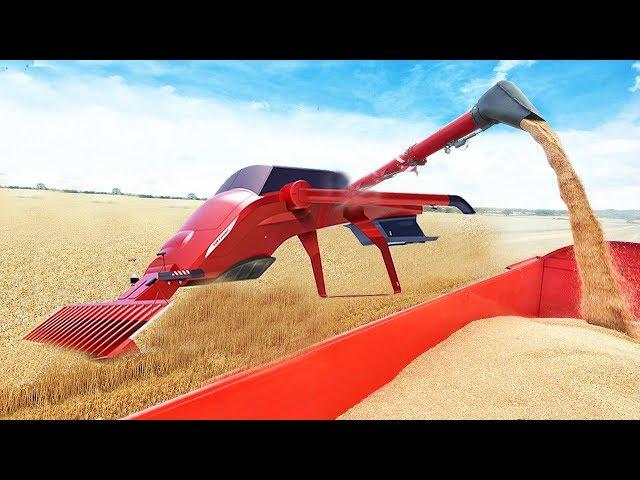 ماشین شگفت انگیز کشاورزی شگفت انگیز ماشین آلات سنگین ماشین آلات مگا عجیب و غریب تراکتور هاروستر