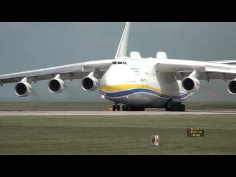 هواپیما آنتونوف در منچستر Antonov 225 Mriya Departs Manchester Airport