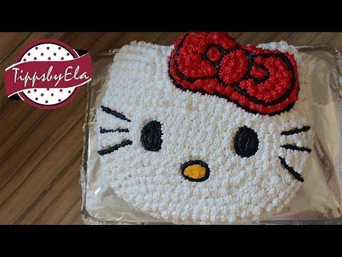 تزیین کیک به شکل هلو کیتی