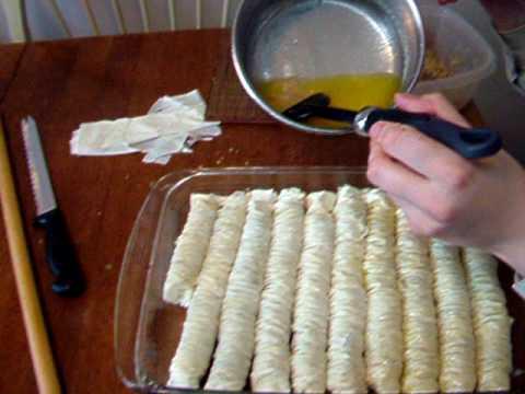 شیرینی پزی-تهیه رول باقلوا- خوشمزه و لذیذ
