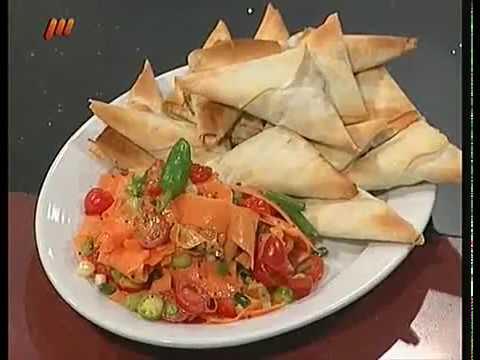 غذای رمضان-سمبوسه اسفناج با سالاد هندی-افطار خوشمزه و آسان