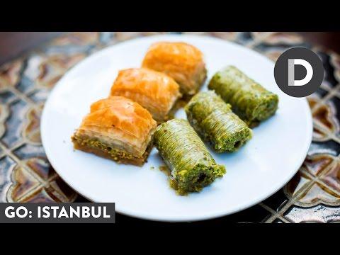 شیرینی پزی-تهیه باقلوا ترکی در 2 طعم