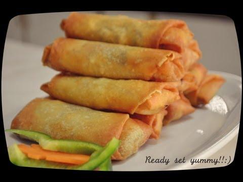 غذای رمضان-تهیه اسپرینگ رول با سبزیجات