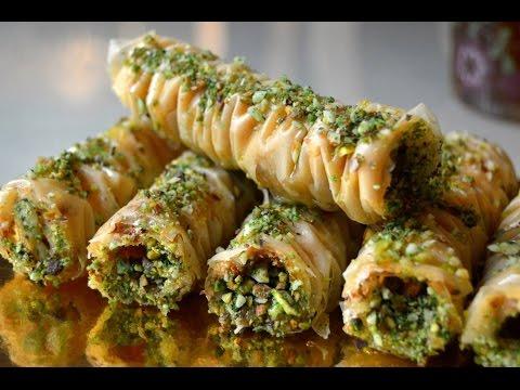 شیرینی پزی-تهیه باقلوا ترکی-شیرینی خوشمزه و لذیذ