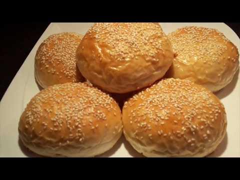 پخت نان-تهیه نان برگر بسیار خوشمزه