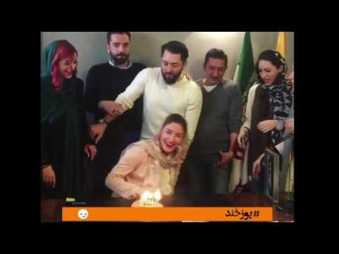 ويديويي جالب از جشن بهرام رادان براي همكارش در دفترش