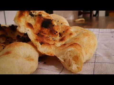 پخت نان-تهیه نان سنگک برشته در خانه
