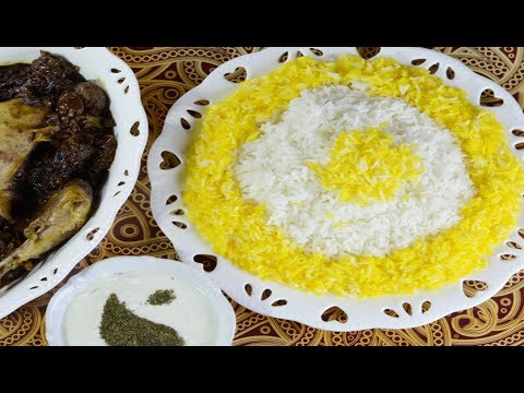 آشپزی آسان-طرز تهیه برنج زعفرانی سریع (کته) بسیار خوشمزه