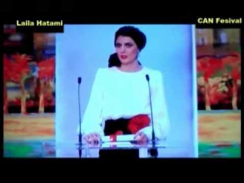 اهدای جایزۀ بزرگ جشنواره کن ۲۰۱۲توسط لیلا حاتمی