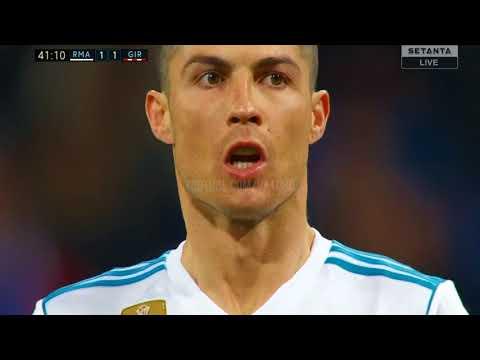 خلاصه بازی رئال مادرید و خیرونا و پوکر کریستیانو رونالدو