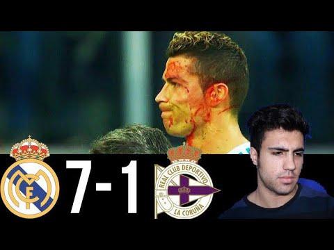 زخمی شدن رونالدو + خلاصه بازی رئال مادرید و دپورتیوو لاکرونیا