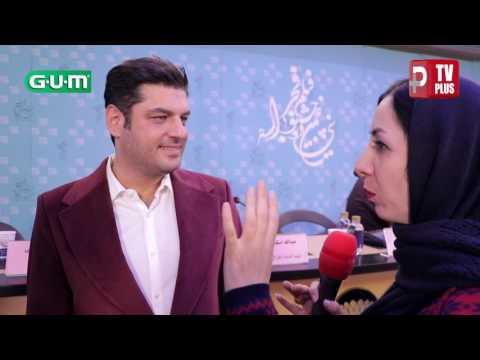 ویدیویی از شوخی منشوری سام درخشانی با پژمان جمشیدی پیش چشم خبرنگاران/ فیلم خوب بد جلف