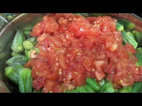 غذای رمضان-بامیه ترکی و گوجه-افطار خوشمزه