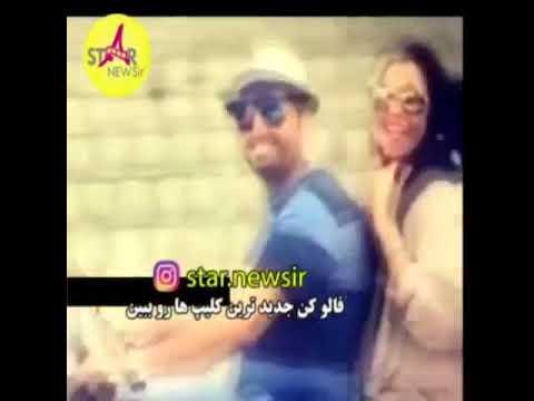 موتور سواري سام درخشاني با همسرش
