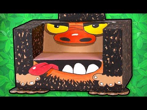 برنامه جعبه کاردستی در سایت جعبه-ساختن صندلی گوریلی-کارتون جعبه کاردستی