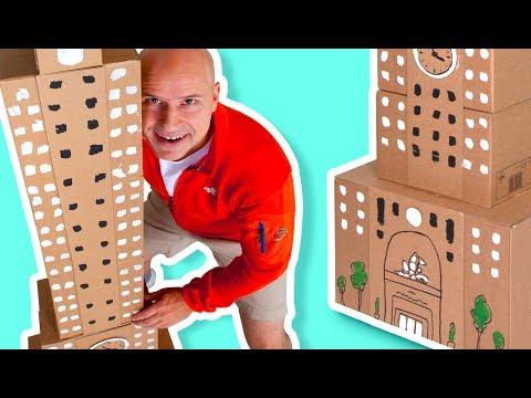 برنامه جعبه کاردستی در سایت جعبه-ساختن آسمانخراش-کارتون جعبه کاردستی