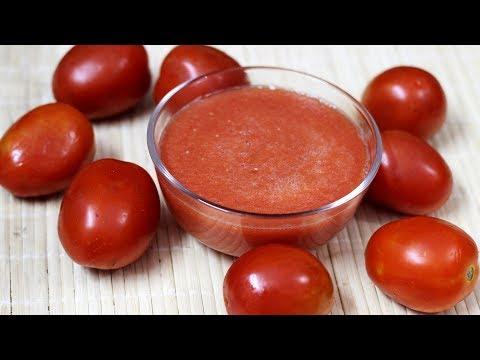 آشپزی ایرانی - آموزش درست کردن پوره گوجه برای انواع خورش ها