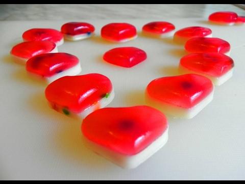 آموزش دسر-تهیه دسر ژله ای به شکل قلب
