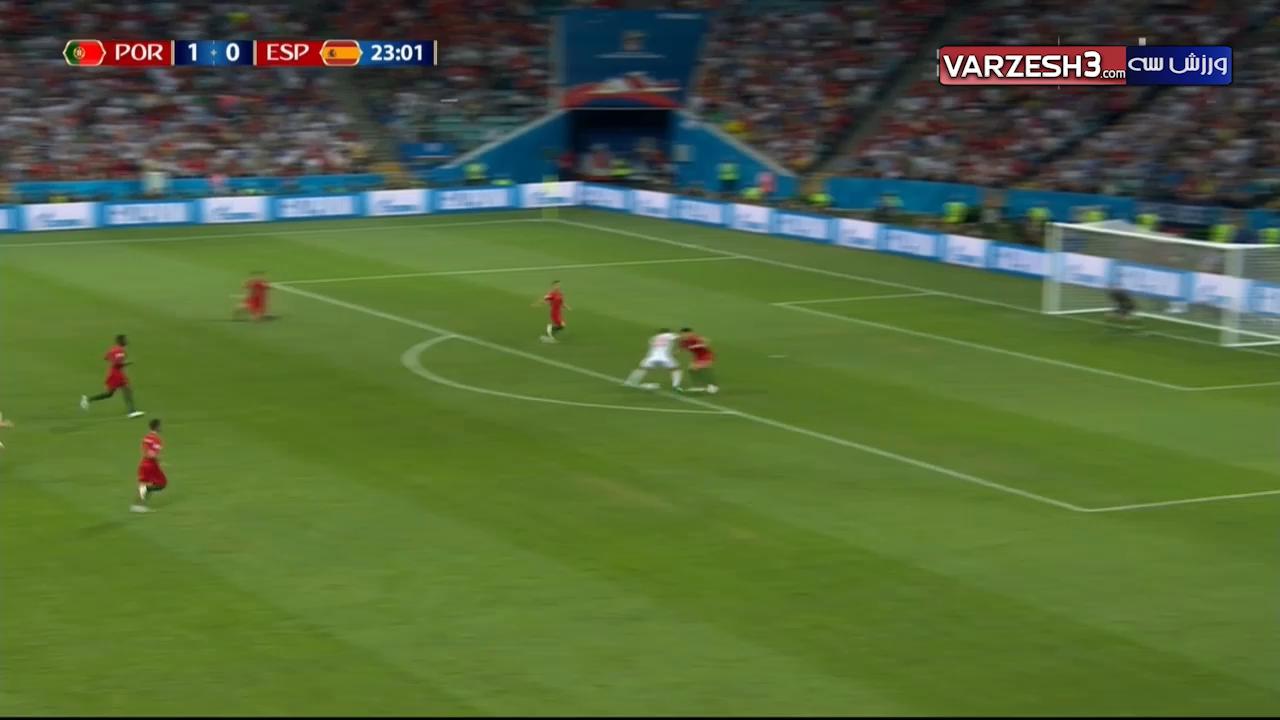 گل دیگو کاستا اسپانیا پرتغال (گل اول اسپانیا)