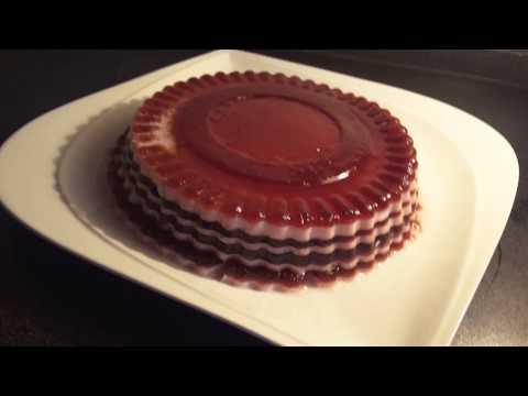 تهیه کیک-کیک ژیلی  با آلبالو