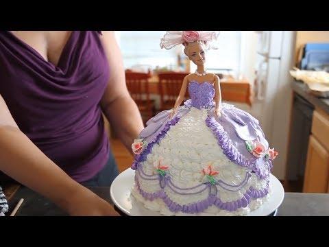 تهیه کیک-تهیه و تزیین کیک باربی