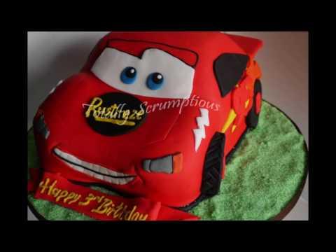 ایده تزیین کیک تولد پسرونه-ماشینی