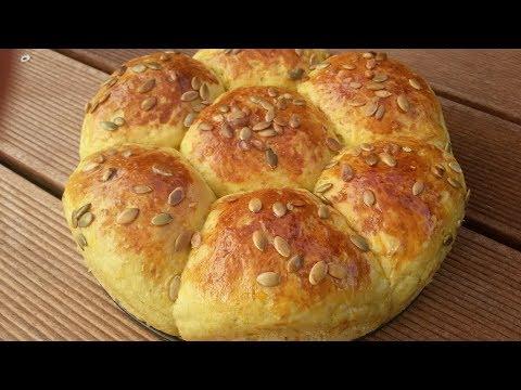 پخت نان - نان کدو حلوایی-لذیذ و مقوی