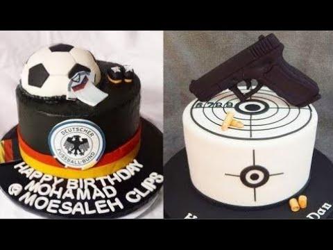 ایده تزیین کیک تولد پسرونه ورزشی