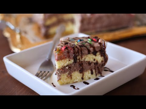 تهیه کیک بستنی آسان