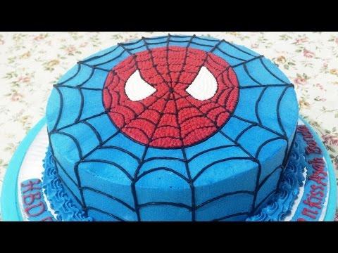 ایده تزیین کیک تولد پسرونه-اسپایدرمن 2
