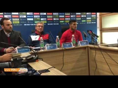 کنفرانس خبری برانکو و علیپور پیش از بازی با نسف قارشی
