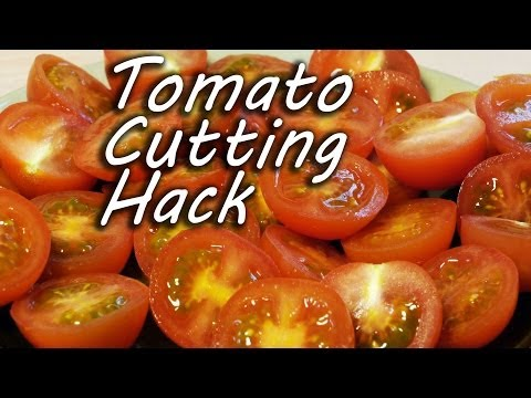 ترفندهای آشپزی-برش سریع گوجه